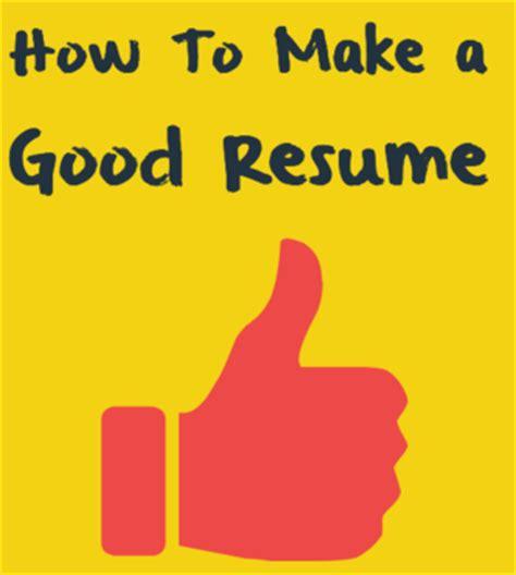 Good student resume format